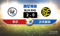 【赛事复盘】瑞士甲韦尔VS沙夫豪森比分结果,比赛结果2-0