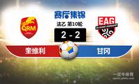 【赛事复盘】法乙奎维利鲁昂VS甘冈比分结果,比赛结果2-2