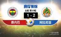【赛事复盘】土超费内巴切VS阿兰亚士邦比分结果,比赛结果1-2