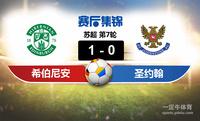【赛事复盘】苏超希伯尼安VS圣约翰斯通比分结果,比赛结果1-0