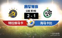 【赛事复盘】以超特拉维夫马卡比VS海法马卡比比分结果,比赛结果2-1