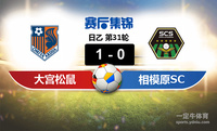【赛事复盘】日乙大宫松鼠VSSC相模原比分结果,比赛结果1-0