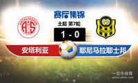 【赛事复盘】土超安塔利亚体育VS耶尼马拉耶士邦比分结果,比赛结果1-0