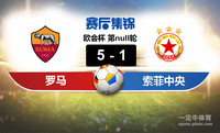 【赛事复盘】欧会杯罗马VS索菲亚中央陆军比分结果,比赛结果5-1
