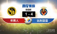 【赛事复盘】欧冠杯年青人VS比利亚雷亚尔比分结果,比赛结果1-4