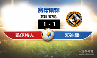 【赛事复盘】苏超凯尔特人VS邓迪联比分结果,比赛结果1-1