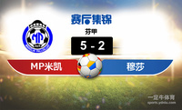 【赛事复盘】芬甲MP米凯利VS穆莎比分结果,比赛结果5-2