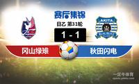 【赛事复盘】日乙冈山绿雉VS秋田蓝色闪电比分结果,比赛结果1-1
