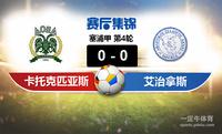 【赛事复盘】塞浦甲卡托克匹亚斯VS艾治拿斯比分结果,比赛结果0-0